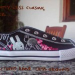 painted shoe